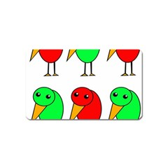 Green and red birds Magnet (Name Card)