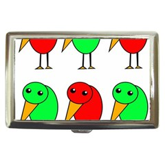Green and red birds Cigarette Money Cases