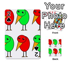 Green And Red Birds Playing Cards 54 Designs