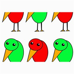 Green and red birds Collage Prints