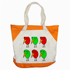 Green and red birds Accent Tote Bag