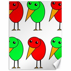 Green and red birds Canvas 18  x 24