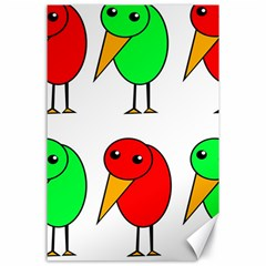 Green and red birds Canvas 24  x 36