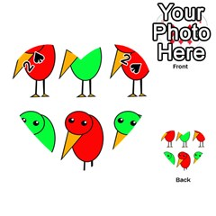 Green and red birds Playing Cards 54 (Heart)