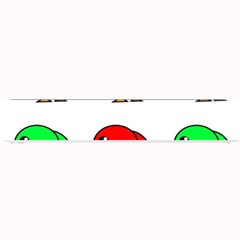 Green and red birds Small Bar Mats