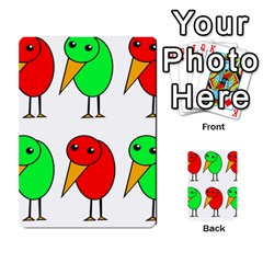 Green and red birds Multi-purpose Cards (Rectangle)