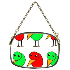 Green and red birds Chain Purses (One Side)