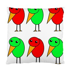 Green and red birds Standard Cushion Case (One Side)