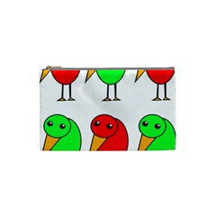 Green and red birds Cosmetic Bag (Small)
