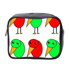 Green and red birds Mini Toiletries Bag 2-Side