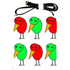 Green and red birds Shoulder Sling Bags