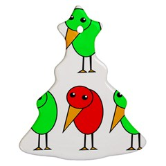 Green and red birds Ornament (Christmas Tree)