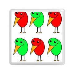 Green and red birds Memory Card Reader (Square)