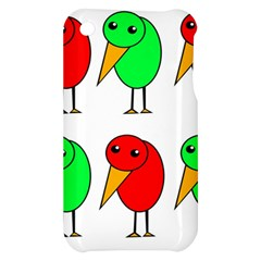 Green and red birds Apple iPhone 3G/3GS Hardshell Case