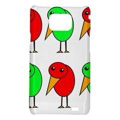 Green and red birds Samsung Galaxy S2 i9100 Hardshell Case