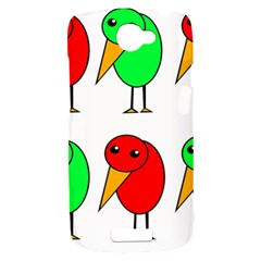 Green and red birds HTC One S Hardshell Case