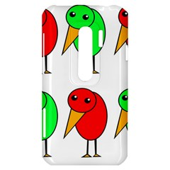 Green and red birds HTC Evo 3D Hardshell Case