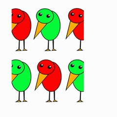 Green and red birds Large Garden Flag (Two Sides)