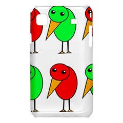 Green and red birds Samsung Galaxy S i9008 Hardshell Case