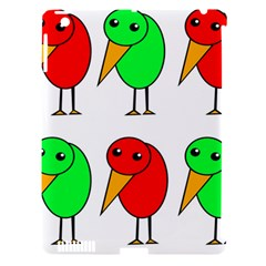 Green and red birds Apple iPad 3/4 Hardshell Case (Compatible with Smart Cover)