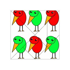 Green and red birds Acrylic Tangram Puzzle (4  x 4 )