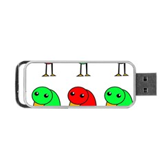 Green and red birds Portable USB Flash (One Side)