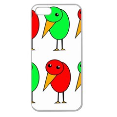 Green and red birds Apple Seamless iPhone 5 Case (Clear)