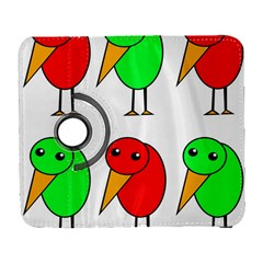 Green and red birds Samsung Galaxy S  III Flip 360 Case