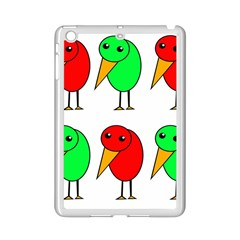Green and red birds iPad Mini 2 Enamel Coated Cases