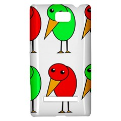 Green and red birds HTC 8S Hardshell Case