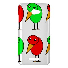 Green and red birds HTC Butterfly X920E Hardshell Case
