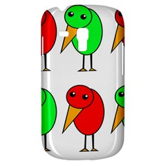 Green and red birds Samsung Galaxy S3 MINI I8190 Hardshell Case