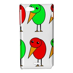 Green and red birds Sony Xperia J