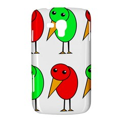 Green and red birds Samsung Galaxy Duos I8262 Hardshell Case