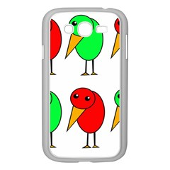Green and red birds Samsung Galaxy Grand DUOS I9082 Case (White)