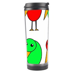 Green and red birds Travel Tumbler