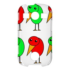 Green and red birds Samsung Galaxy S7710 Xcover 2 Hardshell Case