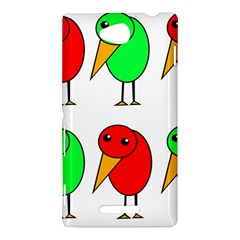 Green and red birds Sony Xperia C (S39H)