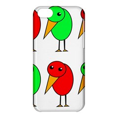 Green and red birds Apple iPhone 5C Hardshell Case