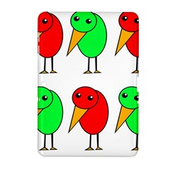 Green and red birds Samsung Galaxy Tab 2 (10.1 ) P5100 Hardshell Case