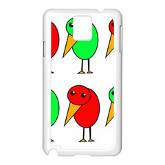 Green and red birds Samsung Galaxy Note 3 N9005 Case (White)