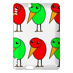 Green and red birds Kindle Fire HDX Hardshell Case