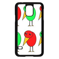 Green and red birds Samsung Galaxy S5 Case (Black)