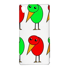 Green and red birds Sony Xperia Z3