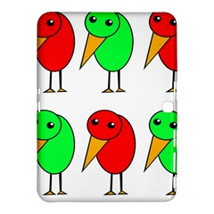 Green and red birds Samsung Galaxy Tab 4 (10.1 ) Hardshell Case