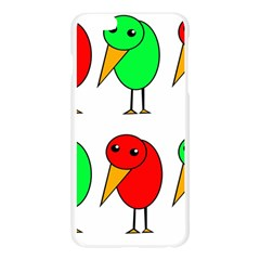 Green and red birds Apple Seamless iPhone 6 Plus/6S Plus Case (Transparent)