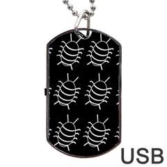 Bugs Pattern Dog Tag Usb Flash (one Side)