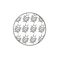 White bug pattern Hat Clip Ball Marker (10 pack)