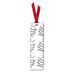 White bug pattern Small Book Marks