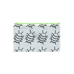 White bug pattern Cosmetic Bag (XS)